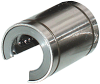 LBOA Series - Recirculating Round Rail Linear Bearing Open, All Steel Inch Series -- LBOA-16