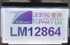 128x64 Graphic Display Module -- LM12864BCW - Image