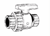 Safety Block Single Union Ball Valve:Thread x Thread -- T4-007 Thread x Thread -- View Larger Image