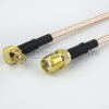SMA Female to RA MCX Plug Cable RG-316 Coax in 12 Inch and RoHS -- FMC1317316LF-12 -Image