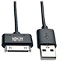 USB Sync/Charge Cable with Apple 30-Pin Dock Connector, Black, 10 in. (.24 m) -- M110-10N-BK