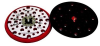 3M 20465 Red Disc Pad - 6 in DIA - 3/8 in Thick - 5/16-24 Thread Attachment -- 051141-20465 -- View Larger Image