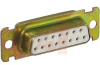 connector,d-sub,str receptacle,stamped contacts,solder cup,15 socket contact -- 70039596