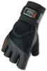 Ergodyne Proflex 910 Black Large Pigskin Leather/Spandex Full Fingered Work & General Purpose Gloves - Gel Polymer Palm Only Coating - 720476-17424 -- 720476-17424