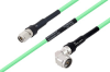 Temperature Conditioned TNC Male to N Male Right Angle Low Loss Cable 18 Inch Length Using PE-P300LL Coax -- PE3M0242-18 -Image