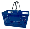Plastic Shopping Baskets with Handle Grips -- 53904