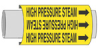 BradySnap-On(TM) Pipe Marker (A; Black on Yellow; HIGH PRESSURE STEAM; 3/4