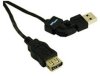 Cables To Go 6-Foot FlexUSB 2.0 A/A Extension Cable -- 30515