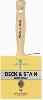 RUBBERSET PROFESSIONAL SEIRES HAND CRAFT WHITE CHINA BRISTLE BLOCK BRUSH # 4 -- 991590400 -- View Larger Image