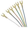 Flat Modular Cable, RJ12 (6x6) / Spade Lug, 1.0 ft -- TDC028-1 -Image