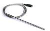 Pt100 Probe, High-temperature Stainless Steel Braided Cable, 2 M