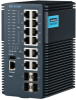Industrial-Class 16 Port Managed DIN Rail Switch Full Gigabit Switch with PoE/PoE+ -- EKI-9316P