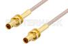 1.0/2.3 Jack Bulkhead to 1.0/2.3 Jack Bulkhead Cable 24 Inch Length Using RG316 Coax, RoHS -- PE3C0441-24 - Image