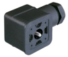 GDMF Flat Line DIN Standard Field Attachable Connector: Form A, 3-pin (2+1PE; PE across cable outlet), black housing, screw type, M16; without circuitry, 230 V AC/DC, 10 A -- GDMF 2016 DAAA - Image