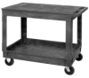 Quantum® Plastic Utility Carts with Flat Top -- 53901