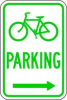 Parking Sign,18 x 12In,GRN/WHT,PRKG -- 3PLX6