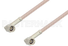 SSMA Male Right Angle to SSMA Male Right Angle Cable 36 Inch Length Using RG316-DS Coax -- PE38407-36 -Image