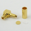 RA MMCX Plug Connector Crimp/Solder Attachment For RG178 Cable -- SC9541 -Image
