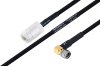 MIL-DTL-17 N Female to SMA Male Right Angle Cable 24 Inch Length Using M17/84-RG223 Coax -- PE3M0046-24 -Image