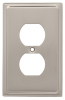 Liberty Hardware 126362, Single Duplex Wall Plate, Satin N.. -- LA126362 - Image