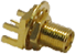 """MCX Female Edge Mount for 0.062"""" Thick Boards - Extended -- CONMCX003.062-L -- View Larger Image"""