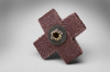 3M 341D A/O Aluminum Oxide AO Cross Pad 60 Grit - 1 in Width x 1 in Length - 3/8 in Pad Thickness - 27368 -- 051141-27368 - Image