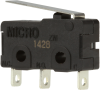 MICRO SWITCH ZM Series Subminiature Basic Switch, SPDT, 125/250 Vac, 5 A, Short Straight Lever Actuator, Solder Termination -- ZM50D10B01 -Image
