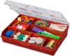 10-Compartment Storage Box with Removable Dividers -- Model # SBR-10, SB-10, SBG-10, SBLB-10, SBMG-10, SBBZ-10 - Image