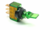 Illuminated Mini Duckbill Toggle Switch (12v)- Green -- 70121 -- View Larger Image