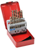 Jobber Drill Bit Set: heavy duty HSS-Co5, 1/16 to 3/8 inch dia., 21-pc -- 215850 -- View Larger Image