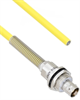 Halogen Free Cable Assembly TRB Insulated Bulk Head 3-Lug Cable Jack with Bend Relief to Blunt .245