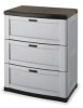 Utility Storage Cabinet,3 Drawers,Gray -- 1FEN9