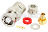RP BNC Male Connector Clamp/Solder Attachment For PE-SR402AL, PE-SR402FL, RG402 -- PE4722 -Image