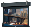 Square Format Tab Tensioned Ceiling Recessed Electric Front Projection Screen. -- Square Format
