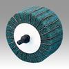 3M Scotch-Brite CB-ZR Coated Aluminum Oxide Flap Wheel - P180 Grit - 1 1/4 in Face Width - 2 1/2 in Diameter - 80800 -- 051144-80800 - Image