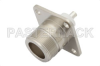 LC Female Connector Solder Attachment 4 Hole Flange Mount Pin Terminal, 1.44 inch Hole Spacing -- PE4192 -Image