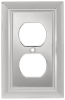 Liberty Hardware 126299, Single Duplex Wall Plate, Polishe.. -- LA126299 - Image