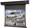 Square Format Tab Tensioned Electric Wall or Ceiling Projection Screen. -- Square Format