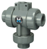 Hayward® PVC Three-Way Valves for Actuation -- 20657