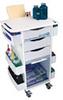 51007BLUE - Trippnt 51007, Rolling Organizer Cart, Blue -- GO-63526-91
