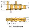 Single Pitch Conveyor Lambda Chain Attachment -- RSC80NP-LAMBDA-D-1