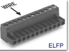 Pluggable Terminal Block -- ELFP Series Right Angle Plug -- View Larger Image
