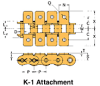 BS/DIN Chain Attachment Series -- RS08B K-1 - Image