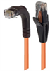 Category 5E Right Angle Patch Cable, Straight/Right Angle Down, Orange, 3.0 ft -- TRD815RAOR-3 -Image