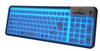 SEAL GLOW Backlit Silicone Keyboard - (USB) -- S106G