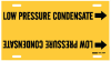 Brady B-915 Black on Yellow Plastic Strap-On Pipe Marker - 1 1/4 in Character Height - Printed Msg = LOW PRESSURE CONDENSATE with Right Arrow - 4091-F -- 754476-41862 - Image