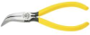 KLEIN TOOLS 6-3/8 In. Plastic Dipped Handle Curved Long-Nose -- Model# D302-6