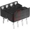 Socket, DIP;8Pins;Dual Leaf;Open;SolderTail;0.31In.;Beryllium Copper;Tin -- 70084221