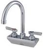 Lead Free Wall Mount Bar Faucet 6 IN Swivel Gooseneck Spout -- 0239885 - Image