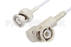 BNC Male to BNC Male Right Angle Cable 24 Inch Length Using RG188 Coax -- PE3C3377-24 -Image